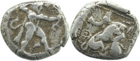 Cyprus, Kition AR Stater. Azbaal, circa 449-425 BC.