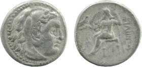 KINGS of MACEDON. Alexander III 'the Great'. 336-323 BC. AR Drachm Head of Herakles right, wearing lion's skin  Rev: Zeus seated left on throne, holdi...
