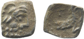 LYCAONIA, Laranda. Circa 324/3 BC. AR Obol   Head of Herakles right / Forepart of a wolf right. Λ above. Gokturk 70;  0,46 gr. 9 mm