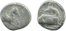 CILICIA, Kelenderis. Circa 425-400 BC. AR Obol Horse prancing right / Goat kneeling left, head reverted. SNG France 116; SNG von Aulock 5643 0,77 gr. ...
