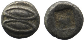 Lesbos, uncertain mint AR Tetartemorion. Circa 450 BC.