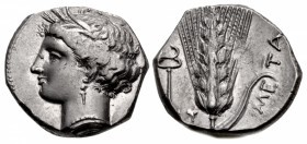 LUCANIA, Metapontion. Circa 340-330 BC. AR Nomos (21mm, 7.91 g, 11h).