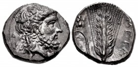 LUCANIA, Metapontion. Circa 340-330 BC. AR Nomos (20mm, 7.69 g, 5h).