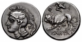 LUCANIA, Velia. Circa 300-280 BC. AR Nomos (20.5mm, 7.45 g, 4h). Philistion Group.