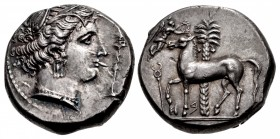 SICILY, Entella. Punic issues. Circa 345/38-320/15 BC. AR Tetradrachm (24mm, 17.55 g, 3h).