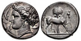 SICILY, Entella. Punic issues. Circa 345/38-320/15 BC. AR Tetradrachm (24mm, 17.14 g, 11h).