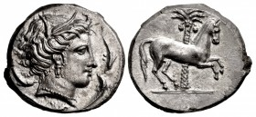 SICILY, Entella. Punic issues. Circa 345/38-320/15 BC. AR Tetradrachm (26.5mm, 17.06 g, 1h).