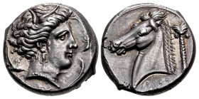 SICILY, Entella. Punic issues. Circa 320/15-300 BC. AR Tetradrachm (25mm, 17.06 g, 1h).