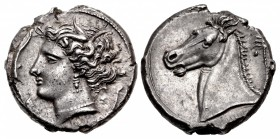 SICILY, Entella. Punic issues. Circa 320/15-300 BC. AR Tetradrachm (26mm, 17.40 g, 12h).
