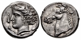SICILY, Entella. Punic issues. Circa 320/15-300 BC. AR Tetradrachm (25mm, 16.86 g, 10h).