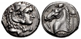 SICILY, Entella. Punic issues. Circa 300-289 BC. AR Tetradrachm (2425.5mm, 17.10 g, 12h).