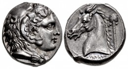 SICILY, Entella. Punic issues. Circa 300-289 BC. AR Tetradrachm (24mm, 17.37 g, 6h).