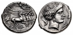 SICILY, Lilybaion (as 'Cape of Melkart'). Circa 330-305 BC. AR Tetradrachm (26mm, 17.03 g, 1h).