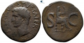 Divus Augustus AD 14. Struck AD 15-16 under Tiberius. Rome. As Æ