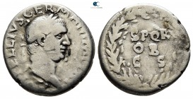Vitellius AD 69-69. late April-20th December AD 69. Rome. Denarius AR