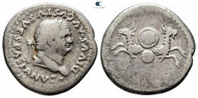 Divus Vespasianus Died 79. Struck under Titus in Rome, AD 80-81. Rome. Denarius AR