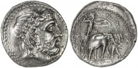 SELEUKID KINGDOM: Seleukos I Nikator, 312-280 BC, AR tetradrachm (17.22g), Seleukeia on the Tigris, HGC 9, 18a, SC 130, laureated head of Zeus right /...