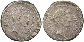 "PADUAN & LATER IMITATIONS: ROMAN IMPERATORIAL: Octavian, cast AE ""sestertius"" (17.14g), Lawrence-; Klawans-, unpublished imitation of Octavian sestert..."