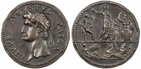 PADUAN & LATER IMITATIONS: ROMAN EMPIRE: Divus Augustus, died 14 AD, AE cast medal (20.03g), Klawans-5 & 73; Alföldi-117, Paduan medal after Giovanni ...