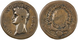 "PADUAN & LATER IMITATIONS: ROMAN EMPIRE: Divus Augustus, died 14 AD, cast AE ""sestertius"" (20.56g), Lawrence-4; Klawans-1, Paduan medal after Giovanni..."