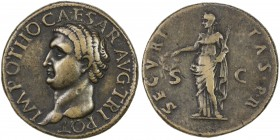 "PADUAN & LATER IMITATIONS: ROMAN EMPIRE: Otho, 69 AD, AE cast ""sestertius"" (22.05g), Lawrence-24 var; Klawans-5, Paduan medal after Giovanni Cavino; b..."