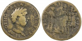 "PADUAN & LATER IMITATIONS: ROMAN EMPIRE: Otho, 69 AD, AE cast ""sestertius"" (16.11g), Lawrence-23; Klawans-3, Paduan medal after Giovanni Cavino; bare ..."