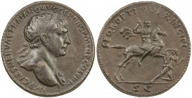 "PADUAN & LATER IMITATIONS: ROMAN EMPIRE: Trajan, 98-117 AD, AE cast ""sestertius"" (20.41g), Lawrence-; Klawans-, unpublished imitation of Trajan sester..."