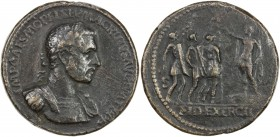 PADUAN & LATER IMITATIONS: ROMAN EMPIRE: Macrinus, 217-218 AD, AE cast medal (25.48g), Lawrence-48; Klawans-3, Paduan medal after Giovanni Cavino, rev...