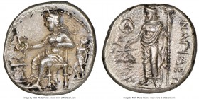 CILICIA. Nagidus. Ca. 400-333 BC. AR stater (23mm, 10.33 gm, 2h). NGC Choice AU 5/5 - 3/5. Aphrodite, wearing turreted crown, seated left, phiale in r...