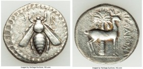 PHOENICIA. Aradus. Ca. 172/1-111/0 BC. AR drachm (19mm, 3.83 gm, 1h). Choice VF. Dated Civic Era 90 (170/169 BC). Bee seen from above; q monogram (dat...
