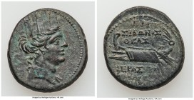 PHOENICIA. Sidon. Pseudo-Autonomous Issues. AE (22mm, 8.37 gm, 2h). About XF. Dated Civic Year 193 (AD 82/3). Turreted head of Tyche right / ΓAP (date...
