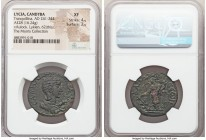 LYCIA. Candyba. Tranquillina (AD 241-244). AE (28mm, 16.24 gm, 12h). NGC XF 4/5 - 2/5. Draped bust of Tranquillina right / KANΔVBЄ ω N, Tyche standing...