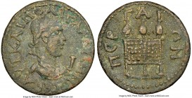 PAMPHYLIA. Perge. Gallienus (AD 253-268). AE 10-assaria (31mm, 2h). NGC XF. ΑVΤ ΚΑΙ ΠΟ ΛΙ ΓΑΛΛΙΗΝΟ CЄΒ, Radiate and draped bust of Gallienus right; I ...