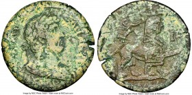 EGYPT. Alexandria. Hadrian (AD 117-138). AE drachm (32mm, 22.25 gm, 1h). NGC XF 4/5 - 2/5. Dated Regnal Year 18 (AD 133/4). Laureate, draped and cuira...