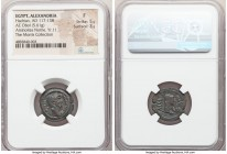 EGYPT. Alexandria. Arsinoites Nome. Hadrian (AD 117-138). AE obol (19mm, 5.61 gm, 12h). NGC Fine 5/5 - 3/5. Dated Regnal Year 11 (AD 126/7). Laureate ...