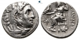 Kings of Macedon. Kolophon. Antigonos I Monophthalmos 320-301 BC. In the name and types of Alexander III. Struck circa 319-310 BC. Drachm AR