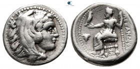 "Kings of Macedon. Sardeis. Alexander III ""the Great"" 336-323 BC. Struck under Menander. Drachm AR"