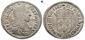 France. Louis XIV 'the Sun King' AD 1643-1715. Douzième d'écu AR