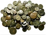 Lot of ca. 100 greek bronze coins / SOLD AS SEEN, NO RETURN!