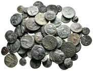 Lot of ca. 60 greek bronze coins / SOLD AS SEEN, NO RETURN!very fine
