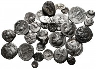 Lot of ca. 30 greek silver coins / SOLD AS SEEN, NO RETURN!very fine