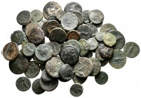 Lot of ca. 70 greek bronze coins / SOLD AS SEEN, NO RETURN!very fine