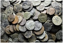 Lot of ca. 300 roman bronze coins / SOLD AS SEEN, NO RETURN!