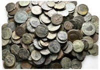 Lot of ca. 250 roman bronze coins / SOLD AS SEEN, NO RETURN!nearly very fine