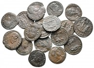 Lot of ca. 17 roman bronze coins / SOLD AS SEEN, NO RETURN!good very fine