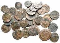 Lot of ca. 33 roman bronze coins / SOLD AS SEEN, NO RETURN!nearly very fine
