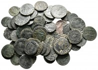 Lot of ca. 60 late roman bronze coins / SOLD AS SEEN, NO RETURN!very fine