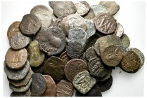 Lot of ca. 75 byzantine bronze coins / SOLD AS SEEN, NO RETURN!nearly very fine