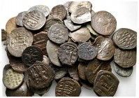 Lot of ca. 75 byzantine bronze coins / SOLD AS SEEN, NO RETURN!very fine