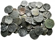 Lot of ca. 50 byzantine bronze coins / SOLD AS SEEN, NO RETURN!nearly very fine
